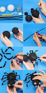 halloween kids gifts diy halloween craft projects kids ideas spider foam balls pipe