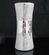 Decorative Glass Vases Handicraft Silver Decorative Cheap Mirror Flower Glass Mosaic