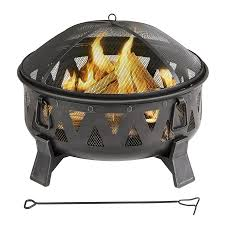 Patio Furniture Lowes Canada - garden treasures 30 in round wood burning fire pit bowl lowe u0027s