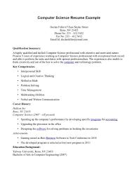 Resume Sample Reddit by Resume Resume Computer Science
