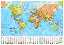 World Map Pinboard by Small Printable World Map Europe Centred Maps International