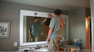 bathroom gold vanity mirror mirrored bathroom vanity large
