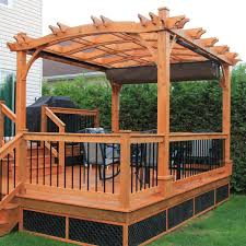 Pergolas Home Depot by Outdoor Living Today 10 Ft X 12 Ft Arched Breeze Cedar Pergola