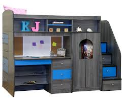 White Bedroom Desk Furniture by Berg Furniture Play And Study Twin Size Loft Bed Kids Bedroom