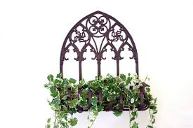 outdoor wall planters wrought iron home design styles