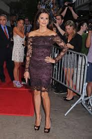 Penelope Cruz brown evening shoes