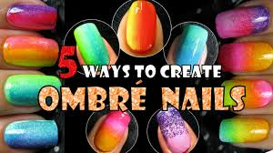 ombre nails 5 ways to create rainbow gradient nail art trend