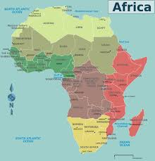 Sub Saharan Africa Physical Map by Africa Countries Map U2022 Mapsof Net