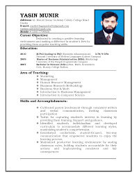 Example Job Resume by Sample Of Resume For Teacher Teaching Resumes For New Teachers