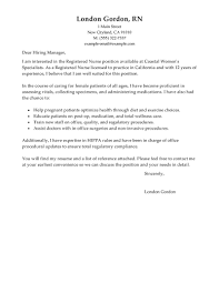 Sample Cover Letter For Rn  cover letter example for new graduate     Cover Letter Templates