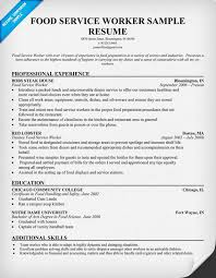 Fast Food Resume Samples by Food Service Waitress Waiter Resume Samples Tips Simple Resume