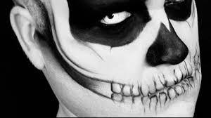 halloween psychotic skull makeup youtube