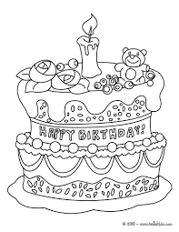 birthday cake coloring pages omeletta me