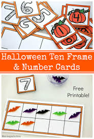 halloween ten frame u0026 number cards free printable where