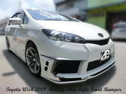 toyota wish toyota wish 2009 modify thai style front bumper custom body kits