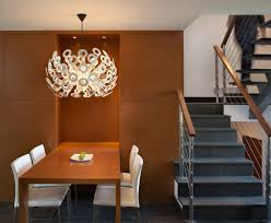 dining minimalist modern dining room with white dining chair and