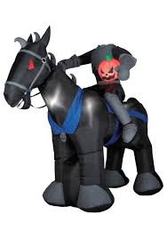 scary outdoor halloween blow ups animated blow up headless