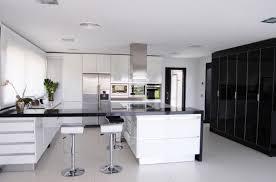 white modern kitchen rectangle white solid wood kitchen table