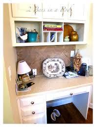 Small Desk Organization Ideas Bathroom Delightful Kitchen Desk Area Houzz Transform Into