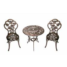 Cast Iron Patio Set Table Chairs Garden Furniture - bistro sets patio dining furniture the home depot