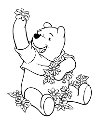 lazy winnie the pooh coloring pages cartoon coloring pages of