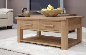 Eton Solid Oak Furniture Storage Coffee Table With Drawers Amazon - Solid oak living room furniture sets