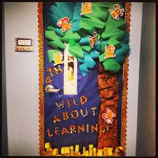 jungle safari themed classroom door decor pinterest idea