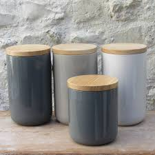 Glass Kitchen Canisters Airtight by Ceramic Storage Jars With Wooden Lids Storage Jars Chalkboards