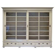 glass door hutch elegant bookcase with sliding glass doors france early 20th