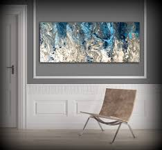 Navy Blue Wall Bedroom Large Abstract Painting Print Navy Blue Print Art Large Canvas
