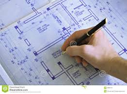 hand drawing a house blueprint stock image image 17704261