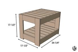 belvedere outdoor end table plans restoration hardware knock off