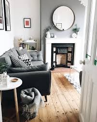 slate grey wall by dulux mirror from ikea sofa from dfs see