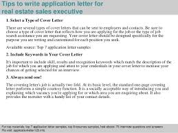 Real estate sales executive application letter SlideShare