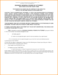 Durable Power Of Attorney For California by 9 Texas Durable Power Of Attorney Form 2015 Week Notice Letter