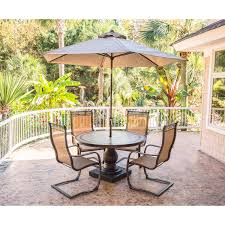 5 Pc Patio Dining Set - monaco 5 piece outdoor dining set with c spring chairs tile top