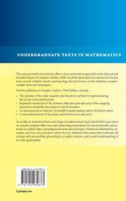 complex analysis undergraduate texts in mathematics amazon co
