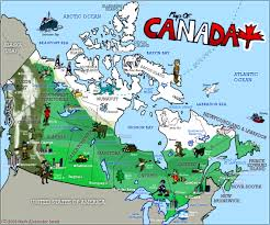 Canada On The Map by Home Two Bienvenidos A Canada