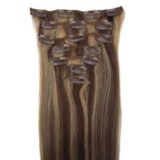 Indian Remy Human Hair Clip In Extensions by 18 Inch Lady Straight Clip In Remy Human Hair Extensions 4 27 9