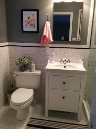 this vanity is only about half as wide as the sink allowing a 17 small basement bathroom renovation ideas tags basement bathroom small basement small bathroom