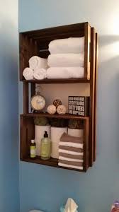 diy bathroom storage shelves made from wooden crates wooden
