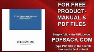 stihl chainsaw repair manual free video dailymotion