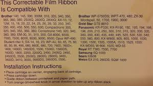 amazon com pelikan black correctable film cartridge ribbon