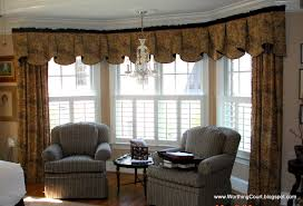fascinating window treatments for bow windows in kitchen pics