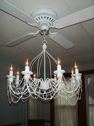 Living Lighting Home Decor Interior Striking Chandelier Ceiling Fan For Great Living Room
