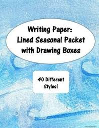 Lined Writing Paper With Drawing Box   writing paper with picture     math worksheet   writing paper with picture box landscape      images about just   Lined Writing