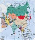 mapa azji