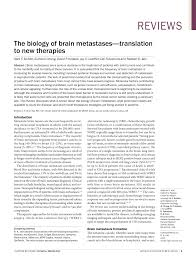 the biology of brain metastases translation to new therapies pdf