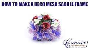 Floral Arrangement Supplies by Deco Mesh Patriotic Saddle Frame Memorial Day Saddle July 4th