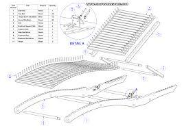 sun lounger plan parts list woodworking plans pinterest